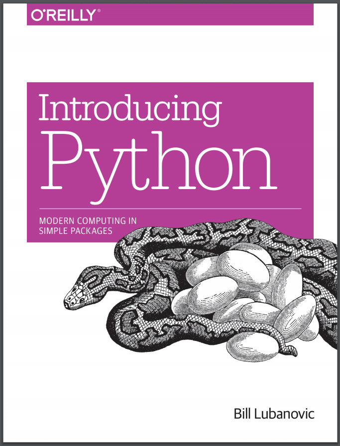 Introducing Python. B. Lubanovic