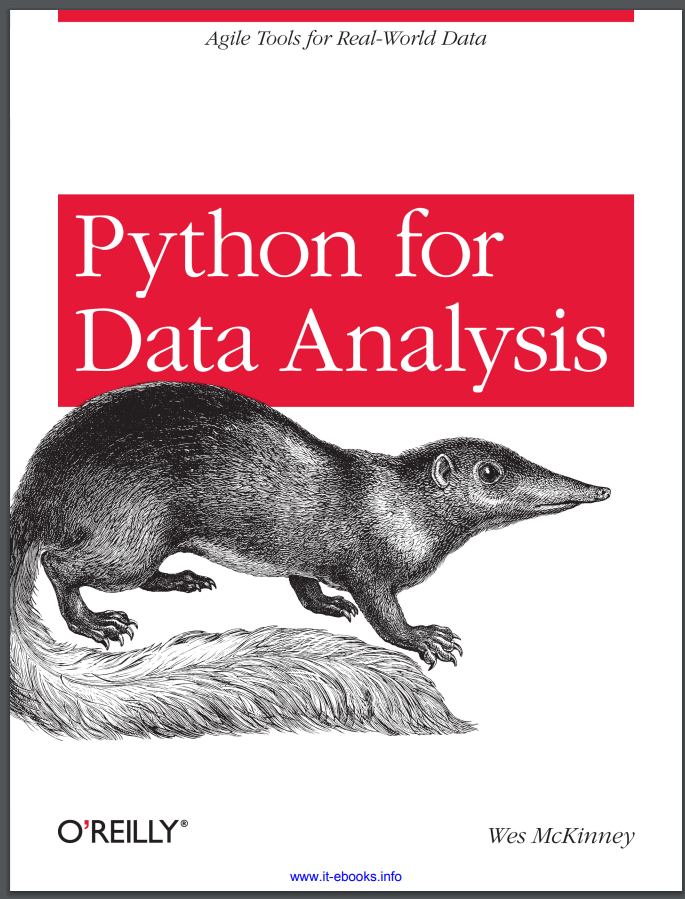 Python for Data Analysis. W. McKinney